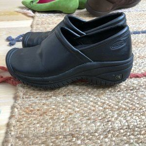 Keen Women's Work Leather Clogs Black Size 6.5
